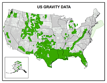 Thompson Solutions US Gravity Data Coverage